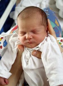 Natural childbirth newborn baby image